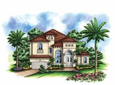 High Quality Small Mediterranean House Plans | Small Lot Mediterranean Home (HWBDO68634)  | Florida House Plan From . Photo