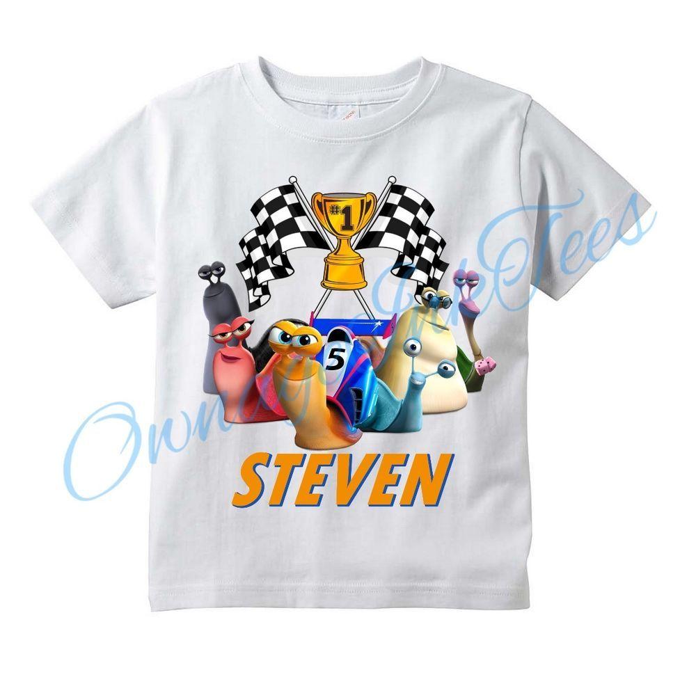 f62a8462e Turbo DreamWorks Movie Custom T-shirt PERSONALIZE tshirt Birthday  #GildanorRabbitSKin
