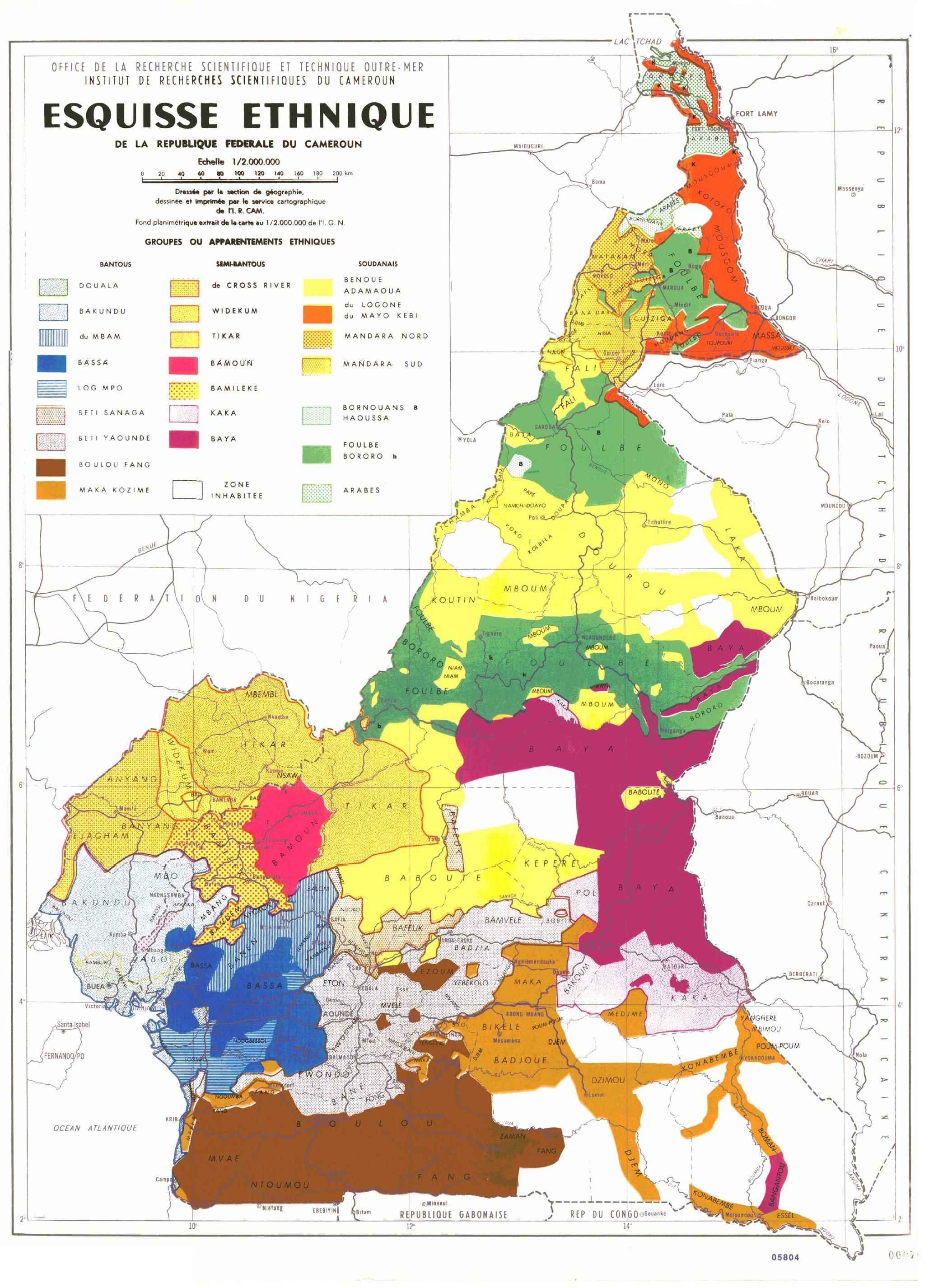 Ethnic map of Cameroon | Geography | Pinterest | Map, Africa map and ...