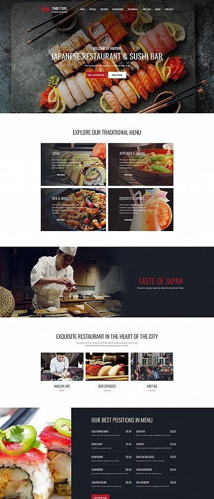 japanese sushi restaurant moto cms 3 template moto cms html