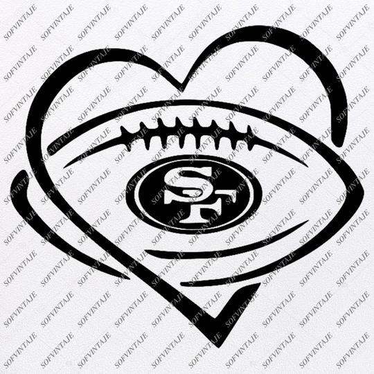 49ers Football Svg Football Svg San Francisco 49ers Svg Football Clip Art Svg For Cricut Svg For Silhouette Svg Eps Pdf Dxf
