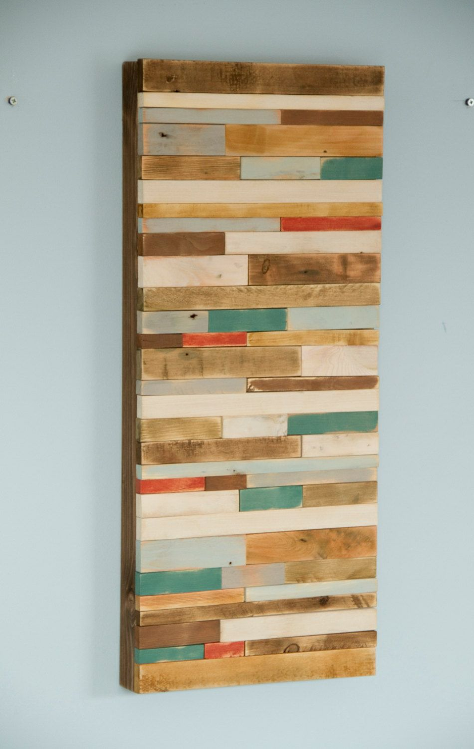 Wood Wall Art Rustic 12 X 28 Reclaimed Sculpture