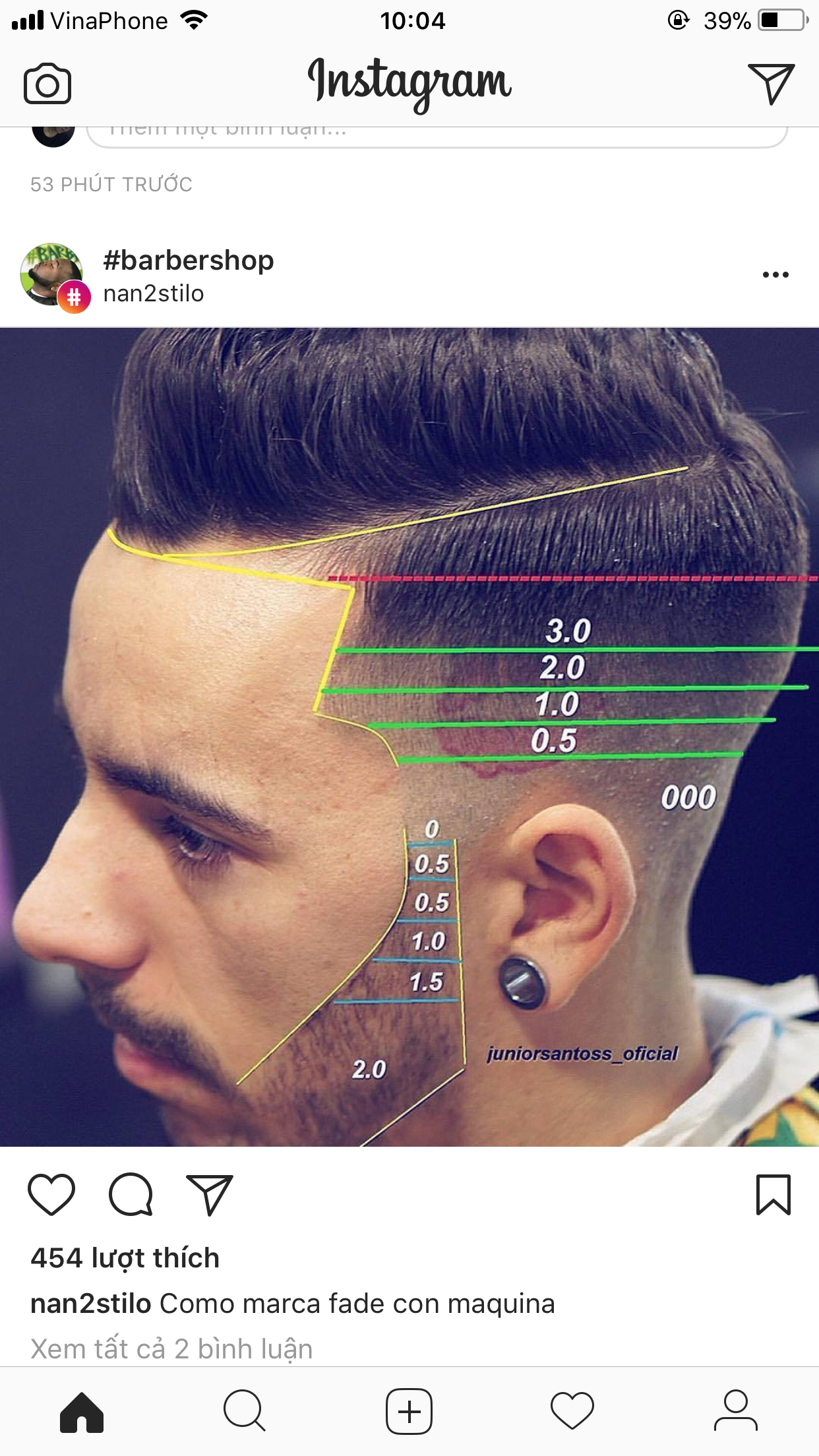 Corte de pelo con la maquina 0