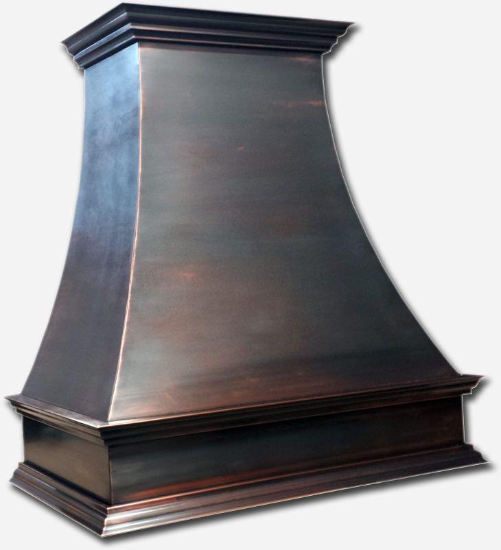 Black Patina Custom Made Copper Hood Vent Hoods Copper
