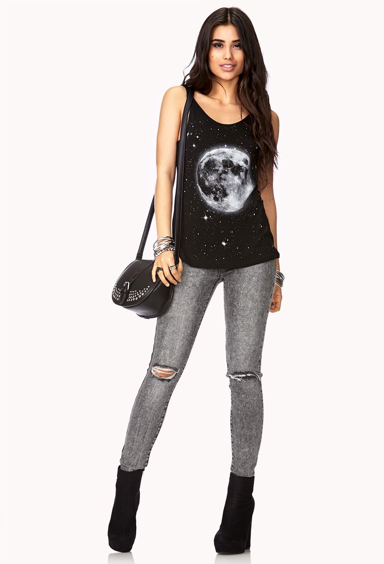 Distressed Acid Wash Skinny Jeans   FOREVER21 These #Skinnies are a trip #ColoredDenim #AcidWash #Distressed #Jeans