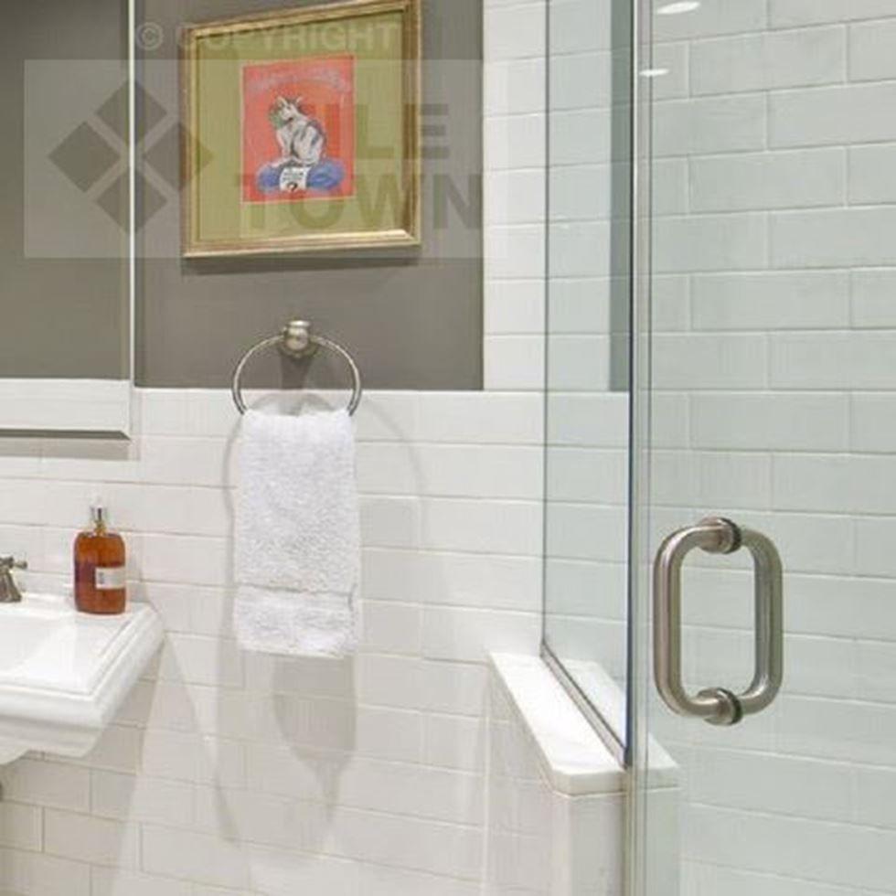 Devon Super White This range of bathroom wall tiles has a shiny ...