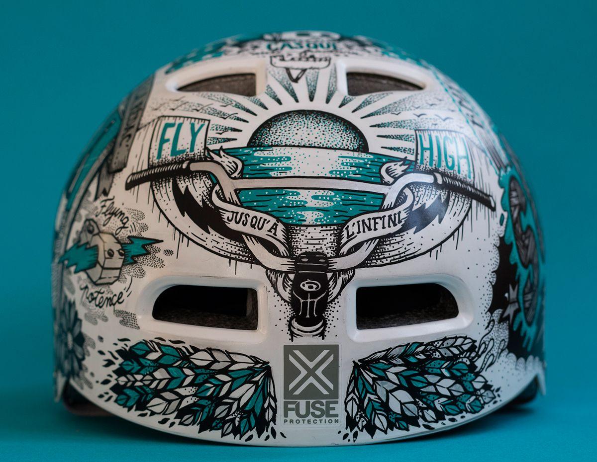 Soul X Posca Helmets On Behance