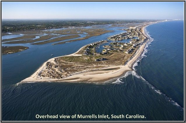 Aerial View Of Murrells Inlet Myrtle Beach South Carolina