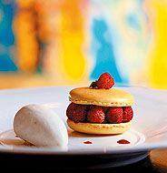 Lemon Macaroon with Wild Strawberries
