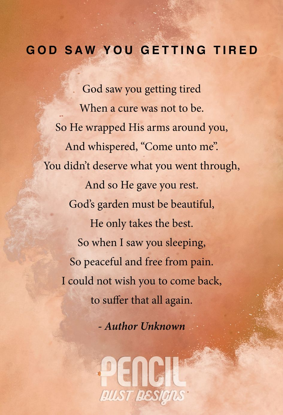 God Saw You Getting Tired. A collection of semi religious ...
