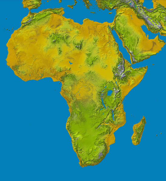 Physical Maps Of Africa For Kids Africa Unit Pinterest Africa - Map of africa physical