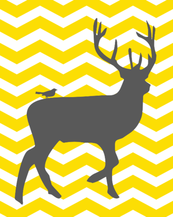 Deer and Bird Chevron Silhouette. think this would be cute with plaid