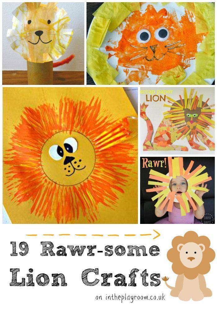 19 Rawr Some Lion Crafts For Kids Animal Crafts Pinterest