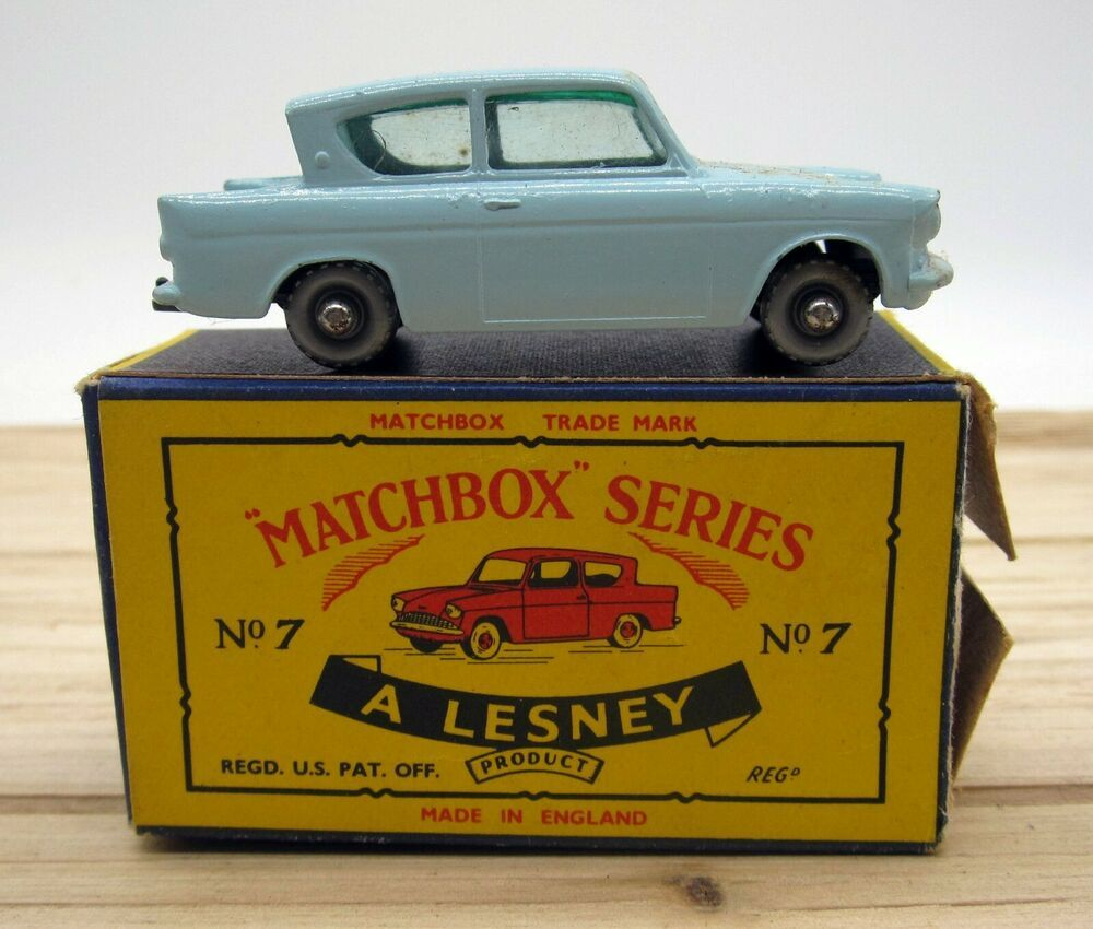 Matchbox Lesney Ford Anglia 7 Original Box Vintage Toy Never Used Matchbox Ford In 2020 Matchbox Cars Ford Anglia Matchbox