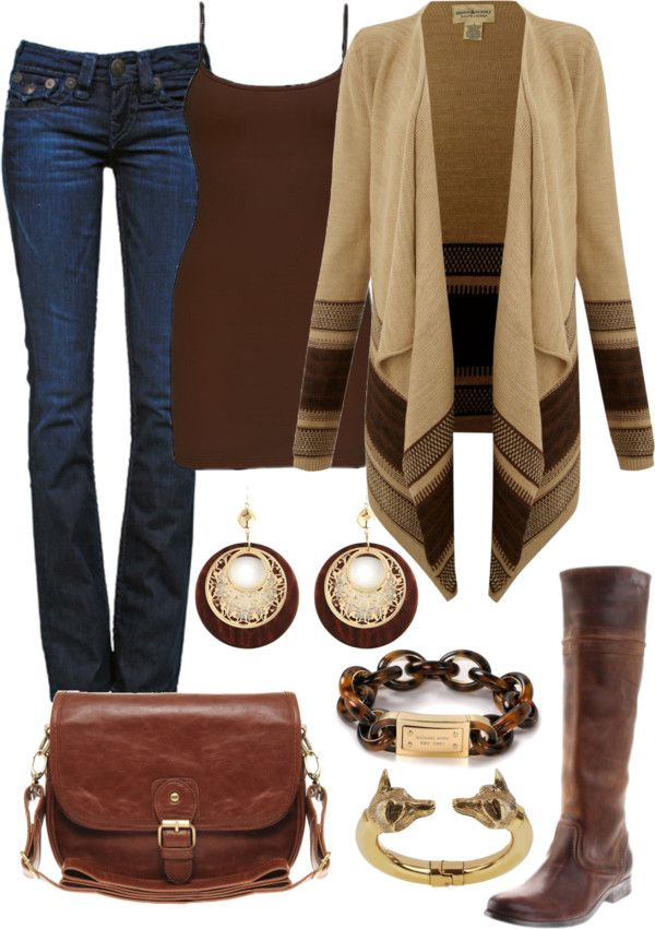 """Field Brown"" by vintagesparkles78 ❤ liked on Polyvore"