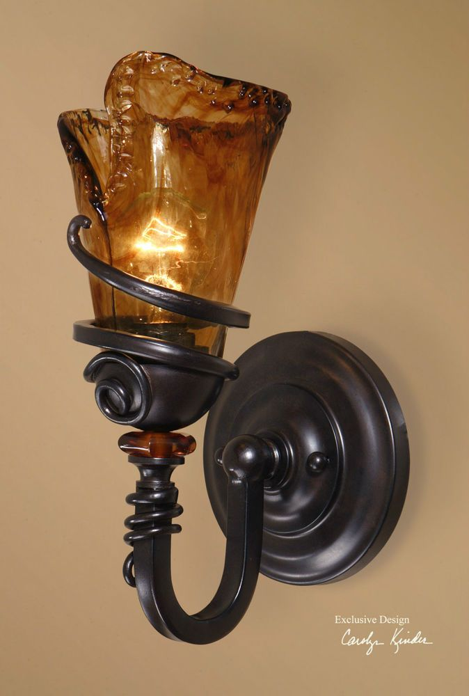 14 tuscan bronze metal glass electric wall sconce light fixture 14 tuscan bronze metal glass electric wall sconce light fixture rustic rusticprimitive aloadofball Image collections