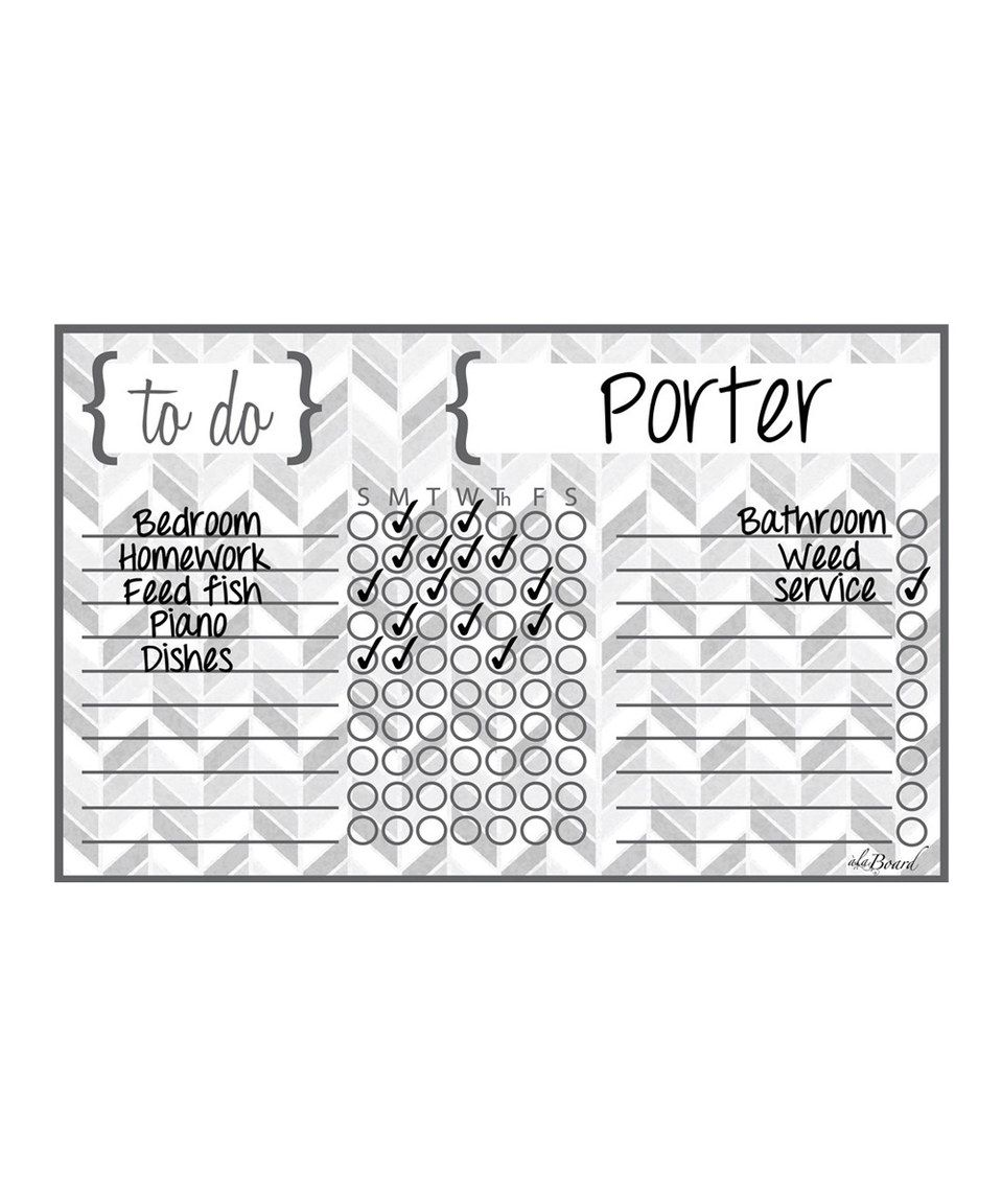 Love this Gray Herringbone Dry-Erase Magnetic Chore Chart by a'la Board on #zulily! #zulilyfinds