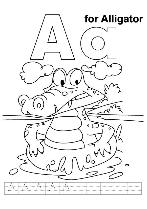 Top 10 Crocodile Coloring Pages For Your Toddler Alphabet Coloring Pages Kids Handwriting Practice Alphabet Preschool