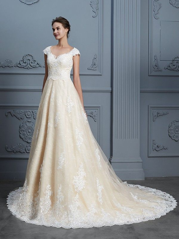 3eadbe87a48d Ball Gown Sweetheart Beading Sleeveless Court Train Lace Wedding Dresses - Wedding  Dresses 2018 - Wedding Dresses - Hebeos Online, Spring, Summer, Fall, ...
