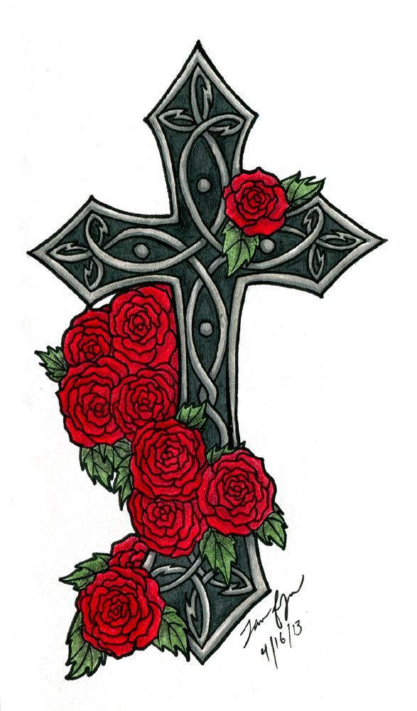 Gothic Cross Tattoos Google Search Tattoos And Piercings
