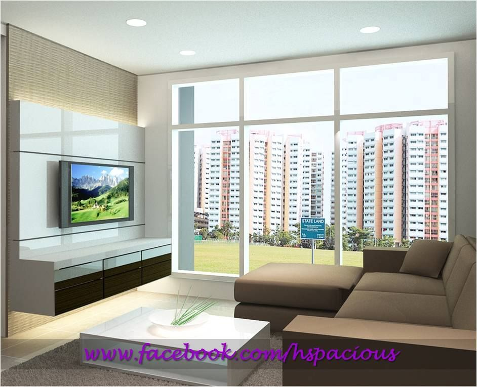 Hdb Brick Wall Design : Hdb tv console feature wall hspacious living spaces