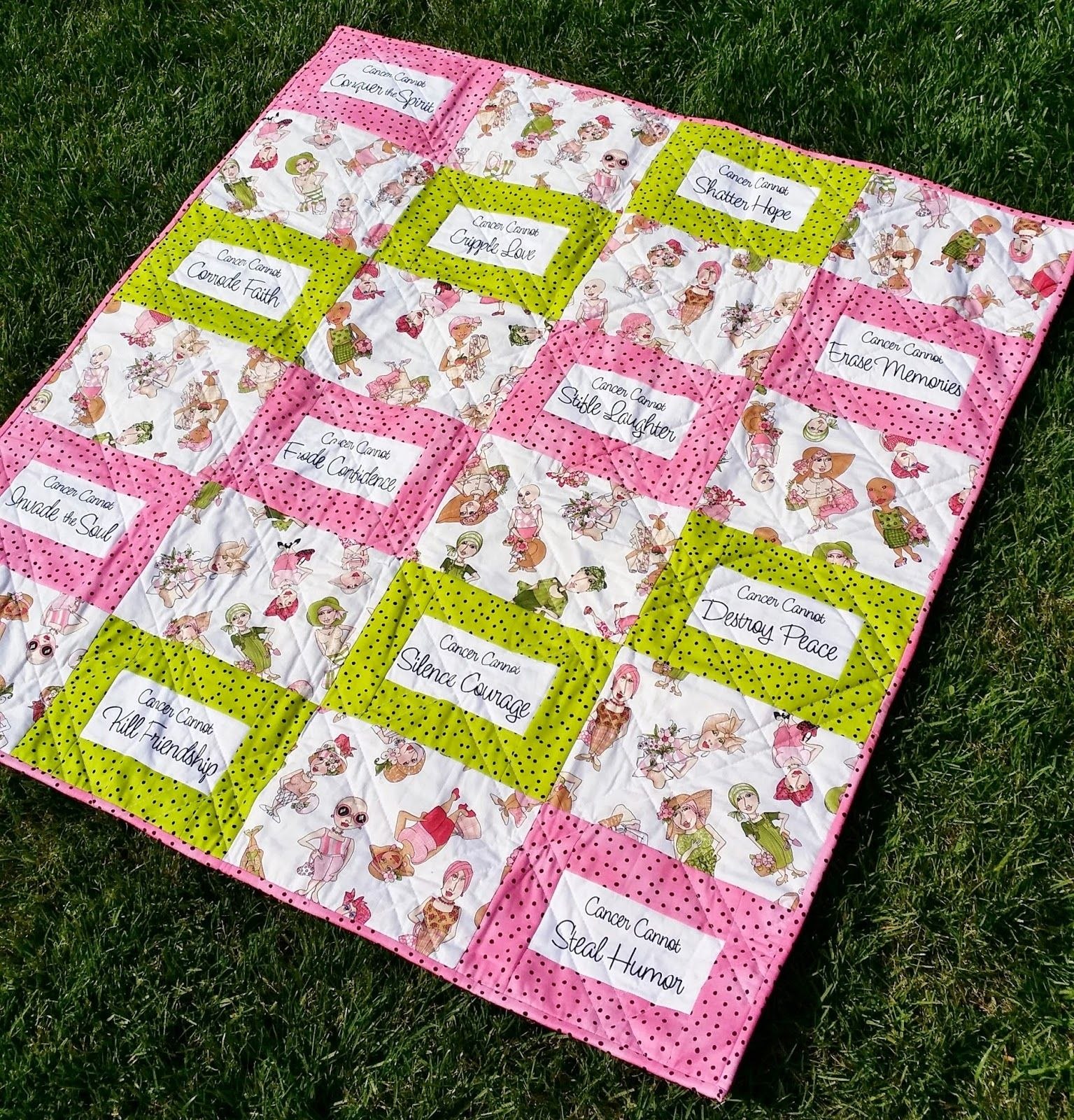 Home A La Mode What Cancer Cannot Do Quilt Tutorial