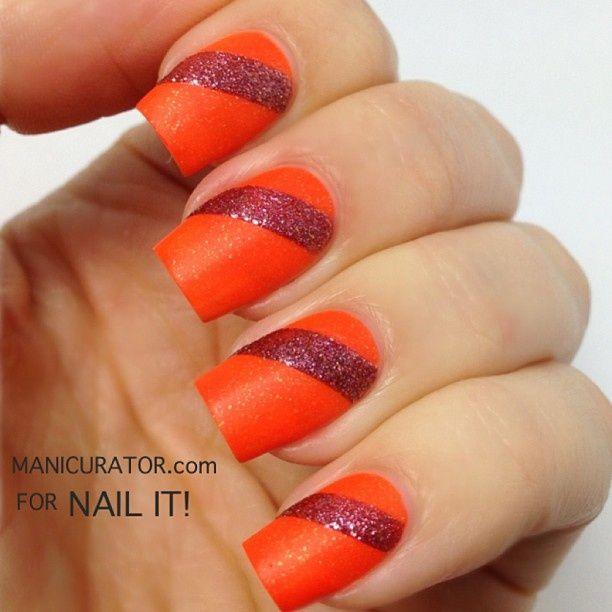 uñas #naranja #orange