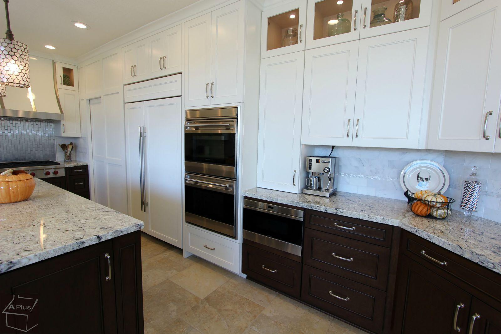Transitional Kitchen Remodel With Custom Cabinets In Yorba Linda Orange County California Transitional Kitchen Kitchen Remodel Contemporary Style Kitchen