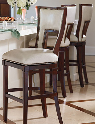 Harlow Swivel Bar And Counter Stools Frontgate Bar Stools Counter Stools Luxury Bar Stools