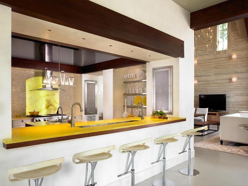Desain Dapur Minimalis Dengan Bar Dapur Kontemporer Dapur Modern