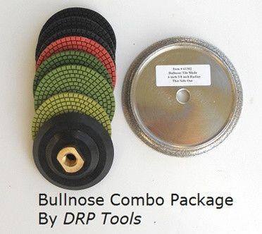 Tile Bullnose Blade And Polishing Pad Combo 6 Blade Angle Grinders Tile Saws
