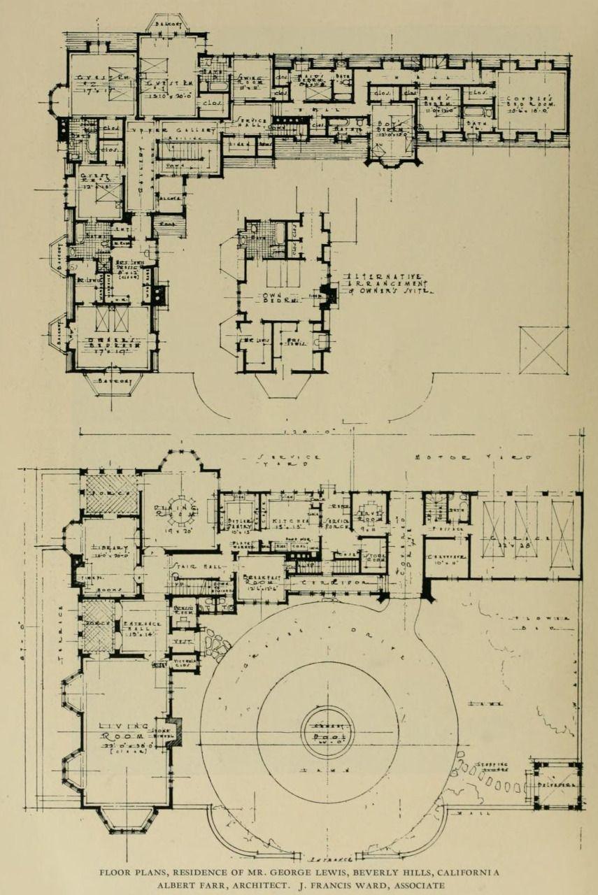 Archi Maps Photo Mansion Floor Plan Architectural Floor Plans Vintage House Plans