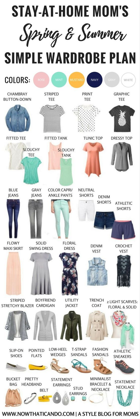 Basic Spring/Summer Capsule Wardrobe (86+ Outfits) For
