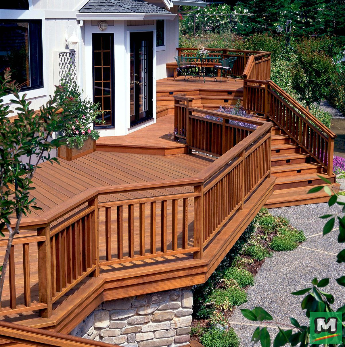 Ac2 Cedartone Premium Pressure Treated Decking Is Truly A Premium Product Its Rich Color Provides A Pleasing Aest Pressure Treated Deck Outdoor Areas Outdoor