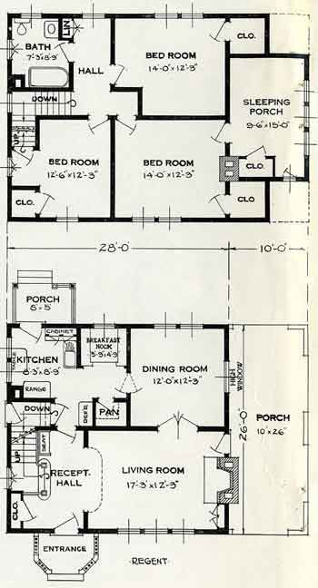 Standard Home Plans For 1926 The Regent House Plans Vintage House Plans House Floor Plans
