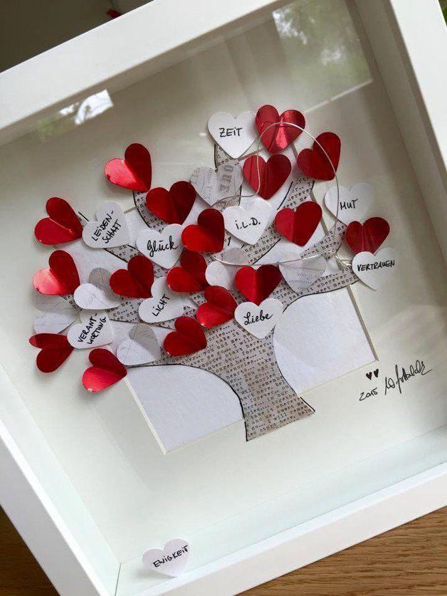 """Bild """"Lebensbaum"""" UNIKAT  incl. Rahmen und Passepartout  ❤️alle meine persönlichen Bilder sind unverwechselbar mit dem """"WG ART handmade with love"""" stofflabel gekennzeichnet.❤️"""