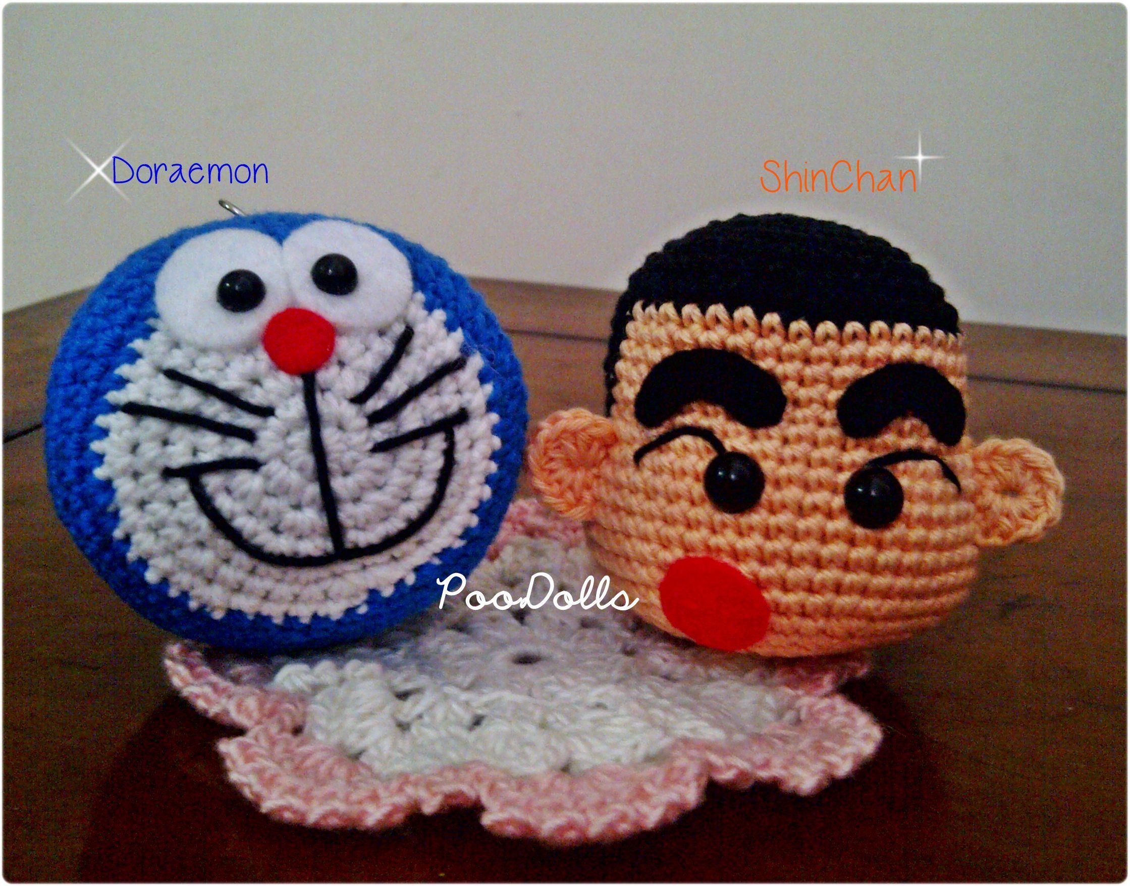 Amigurumi Doraemon Free Pattern : Doraemon & shinchan amigurumi by poodolls www.facebook.com