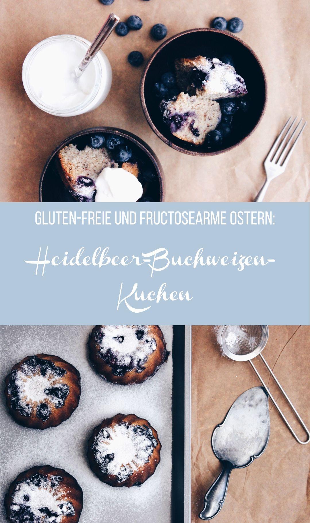 Gluten freie Ostern Fructosearmer Heidelbeer Buchweizen Kuchen mit Zitronencreme by