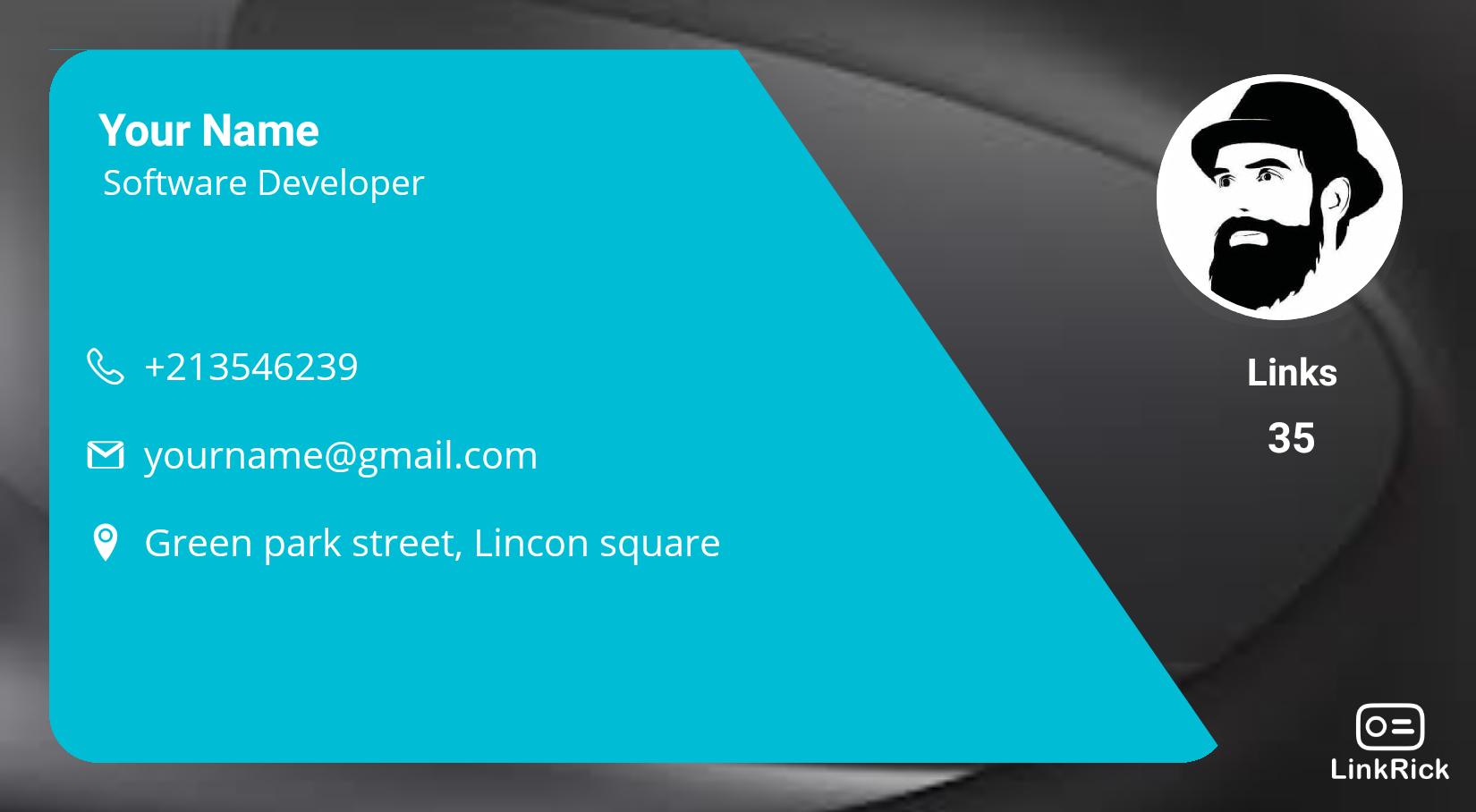 Linkrick Digital Visiting Card Template Digital Business Card Digital Business Visiting Card Templates