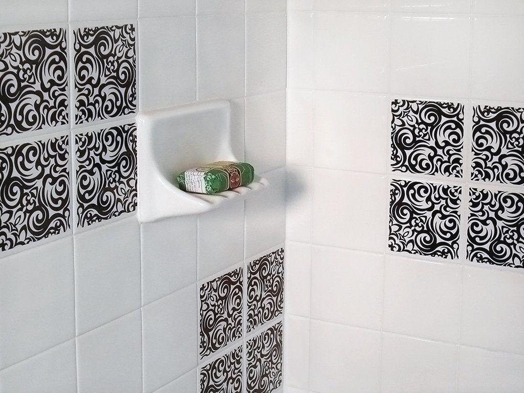 Amazon.com: DecoTile Removable, Replacable Decorative Decals for ...