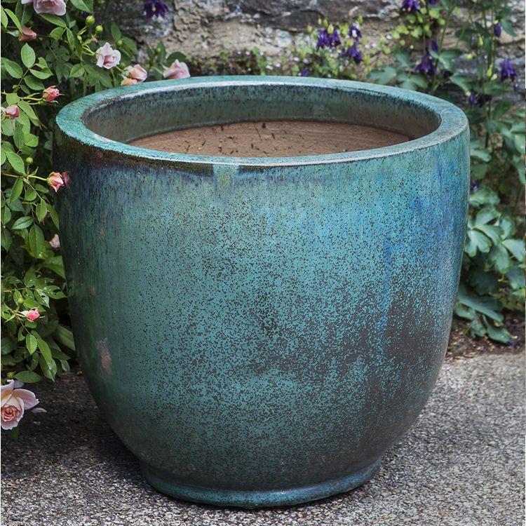 Kinsey Garden Decor Sem Glazed Ceramic Egg Pot Planters Weathered Copper Blue Green Flower Pots Indoor Outdoo Large Ceramic Planters Planters Ceramic Planters