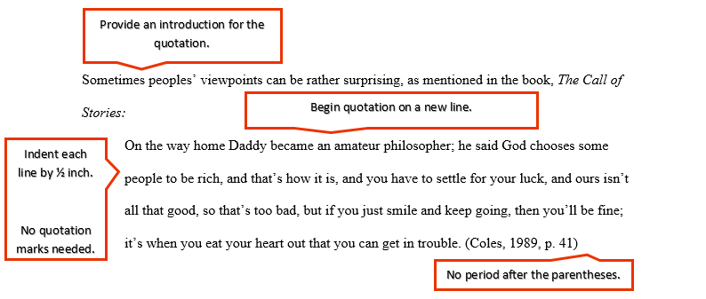 Block Quotations Ashford Writing Center Quotations Quotation Format Be An Example Quotes