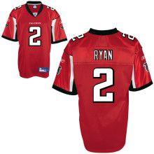 best sneakers 59029 e80ff Matt Ryan Jersey, #2 Atlanta Falcons Authentic Jersey in Red ...