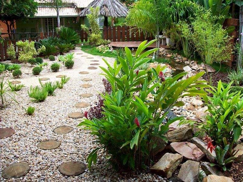 Ideas para jardines peque os con piedra jardines for Jardines pequenos verdes