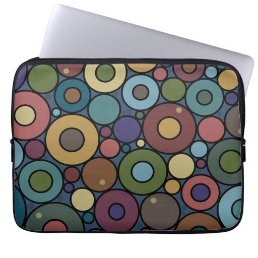 Circles laptop sleeve (pick from 3 sizes)