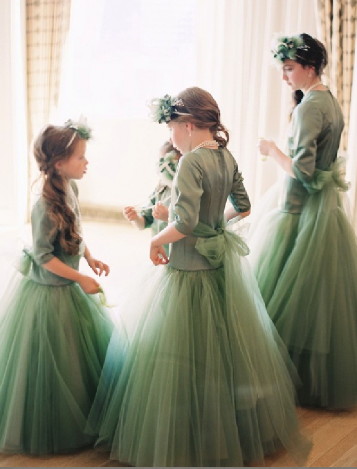 Sage Green and Tangerine Beverly Hills Wedding - Inspired By This -   17 sage green bridesmaid dresses modest ideas