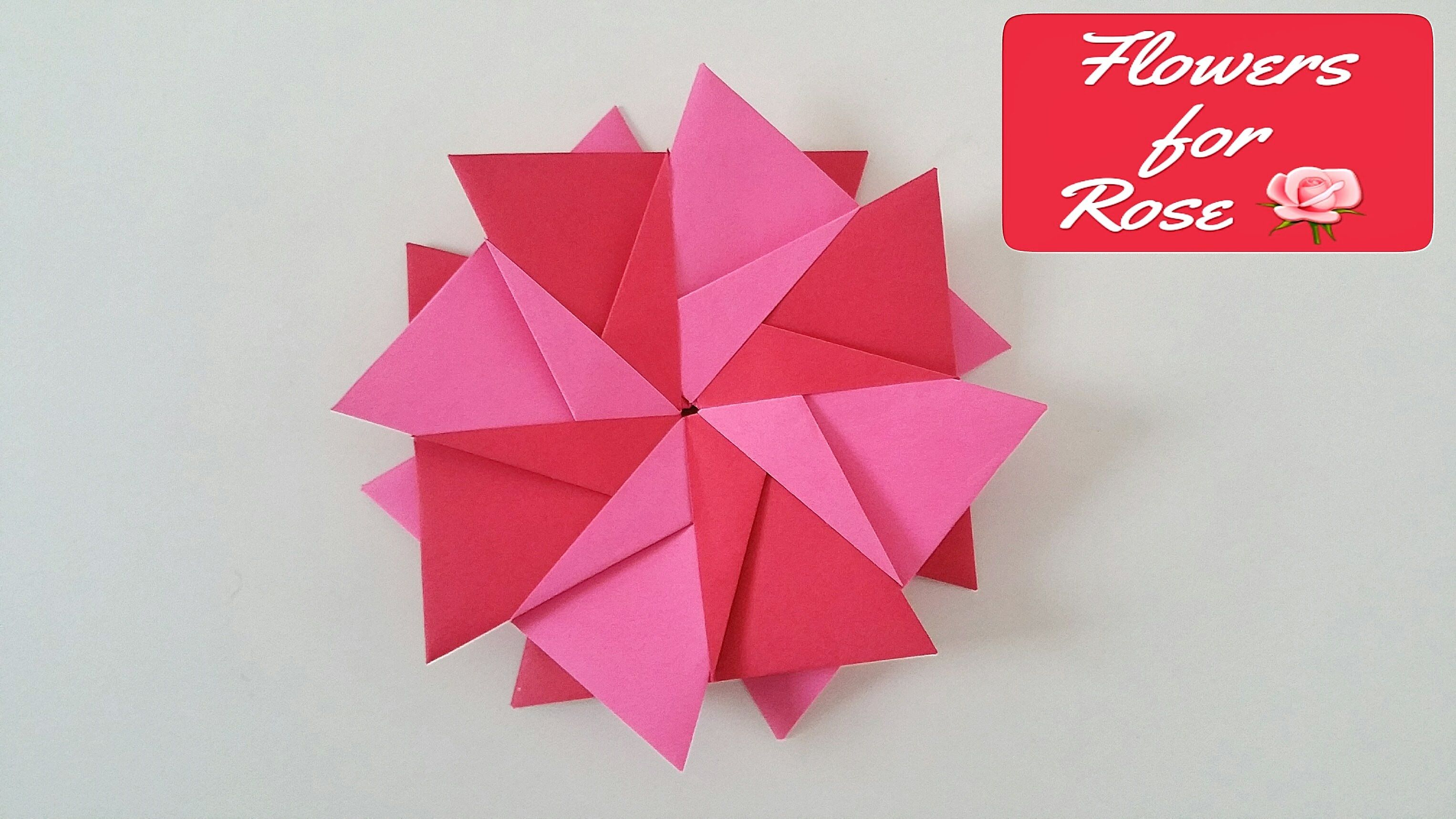 Modular Origami Paper Flowers Of Rose Star Very Easy To Do