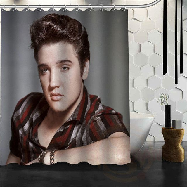 Classical Latest Elvis Presley Shower Curtain Pattern Personalized