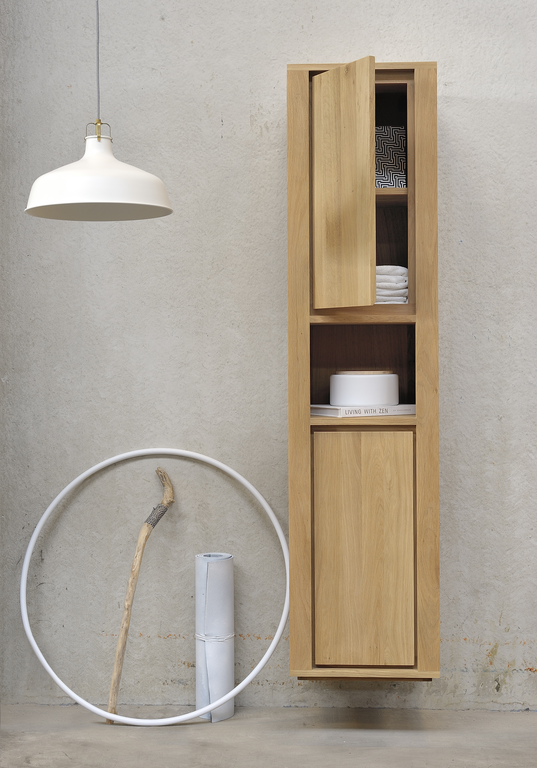 Ethnicraft Oak Shadow Bathroom Cabinet Whitetones Badkamer