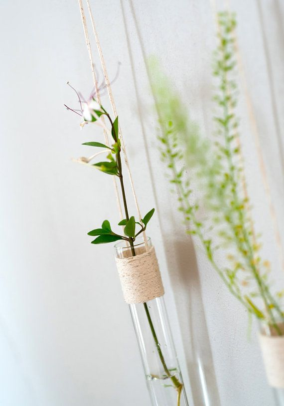 Hanging Vases Glass Wall Vase Set Of 2 Wall Tube Vases A Pair Of